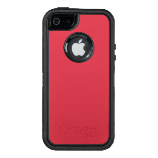 Color rojo renovado R06 de ladrillo Funda OtterBox Defender Para iPhone 5