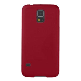 Color rojo sangre oscuro de Borgoña del vino Carcasa De Galaxy S5