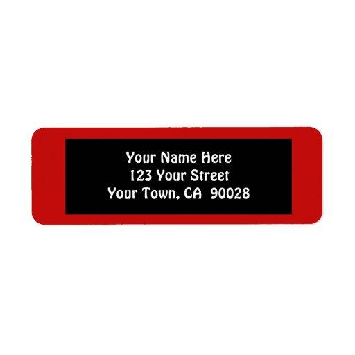 color rojo simple etiqueta de remite