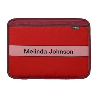Color rojo simple personalizado fundas MacBook