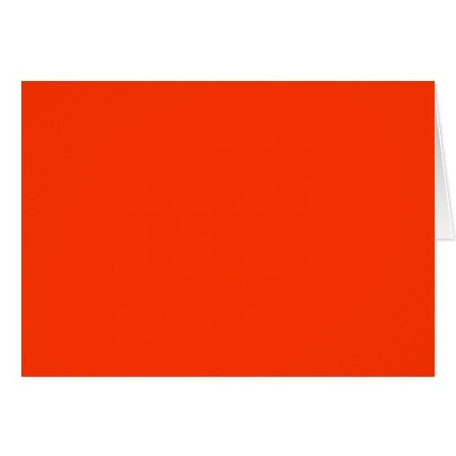 Color rojo sólido FF3300 del Web del fondo Tarjeta De Felicitación