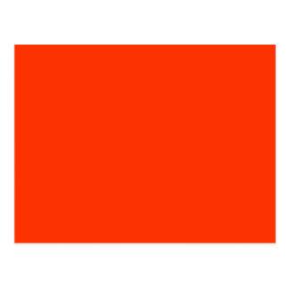 Color rojo sólido FF3300 del Web del fondo Postal