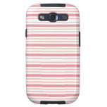 ¡Color Rosa de Horizontales de los lineas de Linda Samsung Galaxy SIII Funda