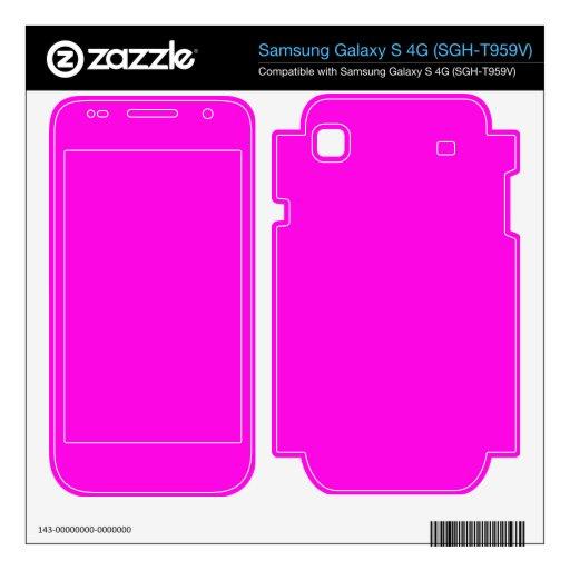 Color rosado brillante samsung galaxy s 4G skins