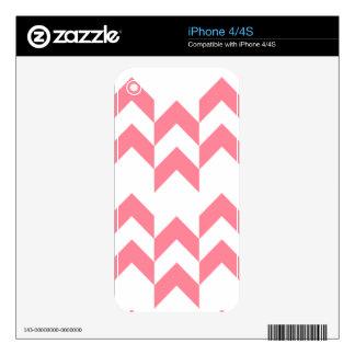 Color rosado de los diseños geométricos del modelo calcomanías para el iPhone 4
