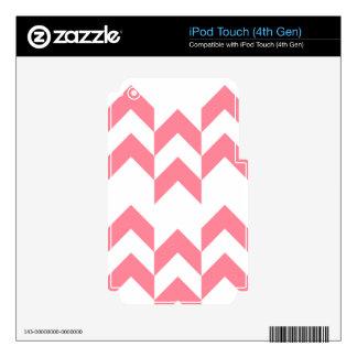Color rosado de los diseños geométricos del modelo iPod touch 4G calcomanías