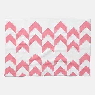 Color rosado de los diseños geométricos del modelo toalla de mano