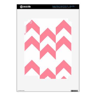 Color rosado de los diseños geométricos del modelo pegatina skin para iPad 3