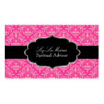 Color rosado de PixDezines Céline Damask/DIY Plantilla De Tarjeta Personal