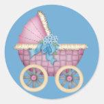 Color rosado del cochecito/del carro de bebé - peg
