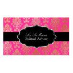 Color rosado del Victorian Damask/DIY de PixDezine Plantillas De Tarjetas Personales