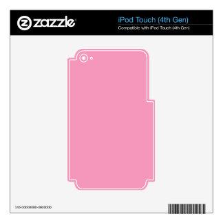 Color rosado P02 Skins Para iPod Touch 4G