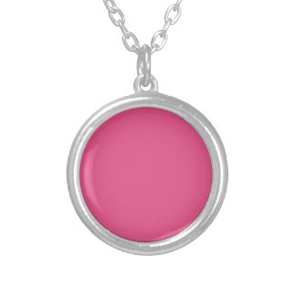 Color rosado P03 Collar Plateado