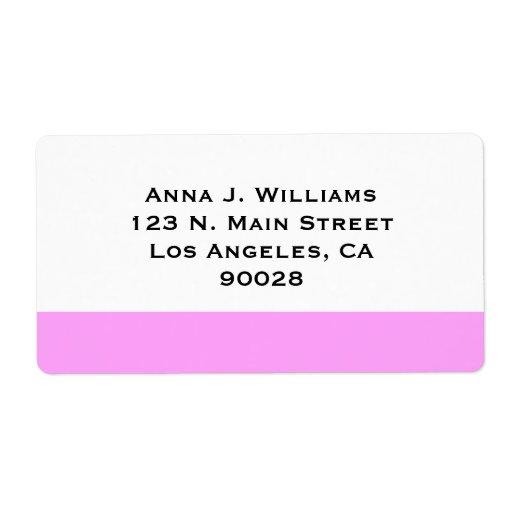 color rosado simple etiquetas de envío