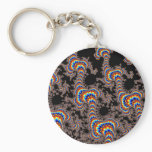 Color Run - Fractal Art Keychain