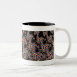 Color Run - Fractal Art Two-Tone Coffee Mug
