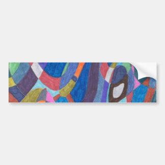 """Color Rush"" Abstract Car Bumper Sticker"