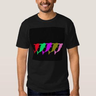 Color-Salto multi de las ballenas de la orca para Camisas