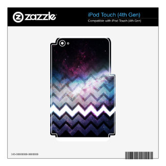 Color Saturated Galaxy Nebula with Chevrons Decals For iPod Touch 4G