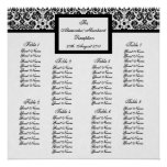 Color Select Damask Seating Arrangement Chart Print