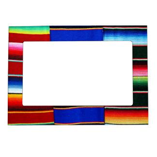 Color serape' stripes magnetic frame