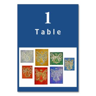Color Series Angel Custom Table Cards