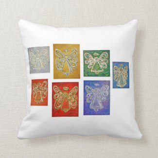 Color Series Angels Art Decorative Throw Pillow