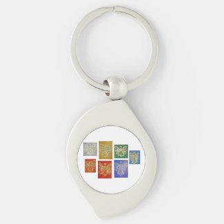 Color Series Guardian Angel Custom Keychains