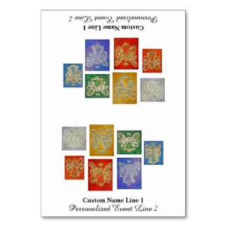 Color Series Inspirational Angel Table Tent Card