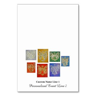 Color Series Inspirational Angel Table Tent Cards
