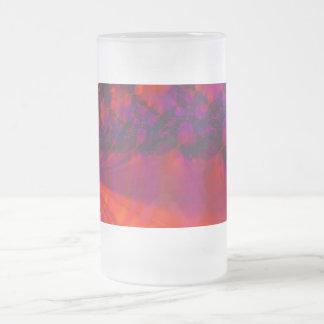 Color Sets The Mood 16 Oz Frosted Glass Beer Mug