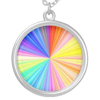 Color Shade Wheel - Rainbow Extreme Round Pendant Necklace