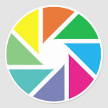 Color shapes round sticker