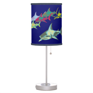 color sharks table lamps