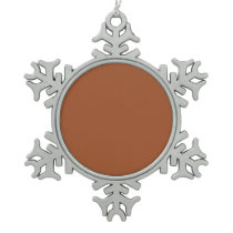 color sienna snowflake pewter christmas ornament