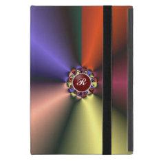 Color Silk Fabric Effect w Monogram iPad Mini Case at Zazzle