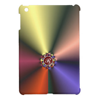 Color Silk Fabric with Monogram iPad Mini Case
