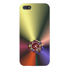 Color Silk Fabric With Monogram Iphone 5/5s Cover For Iphone Se/5/5s at Zazzle