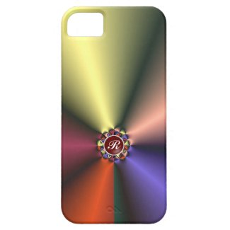Color Silk Fabric with Monogram iPhone 5 Case