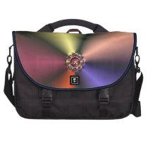 Color Silk Folds w/ Monogram Commuter Laptop Bag at Zazzle