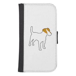 color silo.png del terrier de Russell del enchufe Funda Tipo Billetera Para Galaxy S4