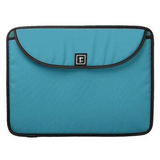 Color simple de la turquesa fundas macbook pro