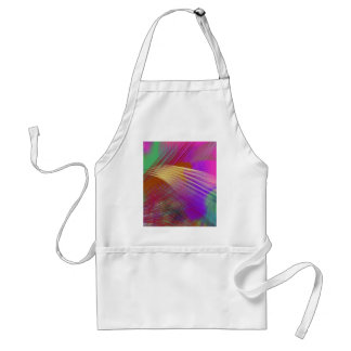 Color Slash Splash Fun Sassy Sissy Girly Abstract Adult Apron