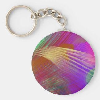 Color Slash Splash Fun Sassy Sissy Girly Abstract Keychain