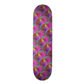 Color Slash Splash Fun Sassy Sissy Girly Abstract Skate Board Deck