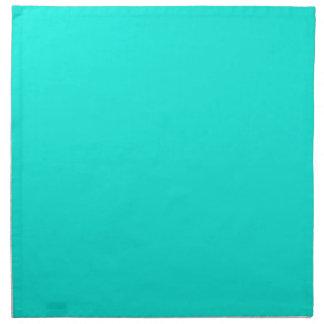 Color sólido: Aguamarina brillante Servilleta Imprimida