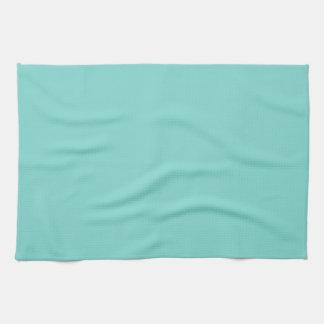 Color sólido Aguamarina de la turquesa Toallas De Mano