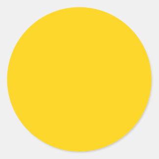 Color sólido amarillo amarillo - personalizable pegatina