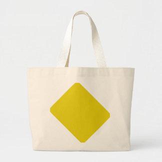 Color sólido amarillo citrino bolsa lienzo