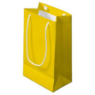 Color sólido amarillo del autobús escolar bolsa de regalo pequeña